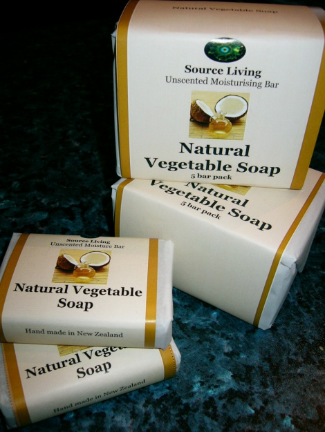 Natural Vegetable Soap 5 pk