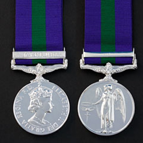 General Service Medal 1918-62 with ribbon