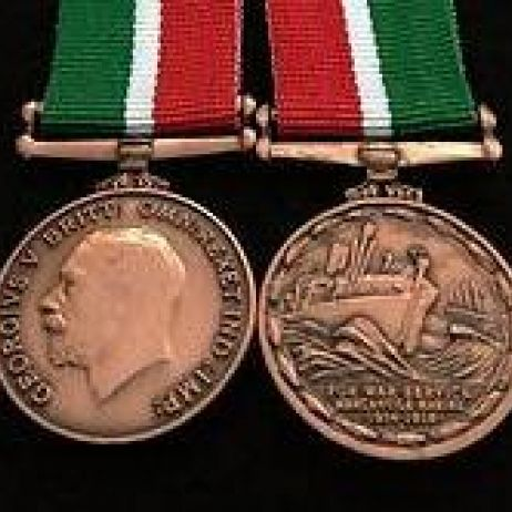 World War I - Mercantile Marine War Medal with ribbon