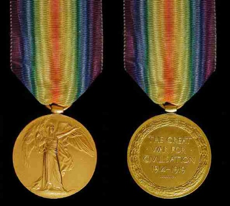 World War I - Victory Medal with ribbon