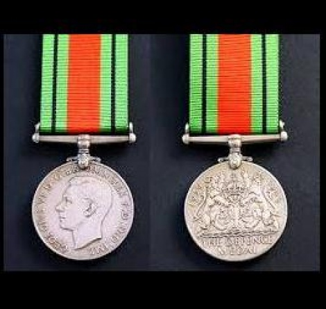World War II - Defence Medal with ribbon