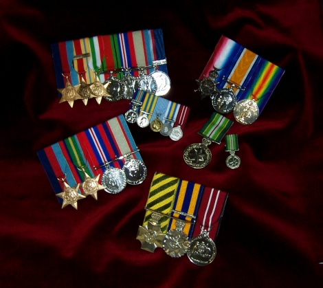 Replica & Original Medals Court Mounted
