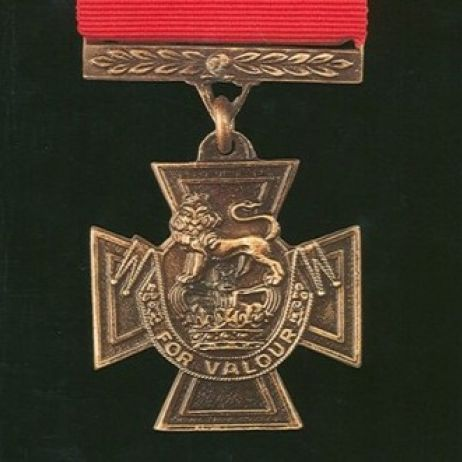 The Victoria Cross with ribbon