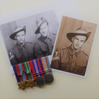 Photograph with mounted medals