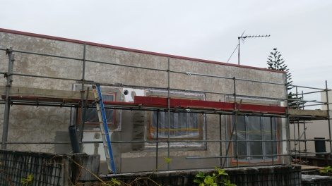 Before replaster 1950s house