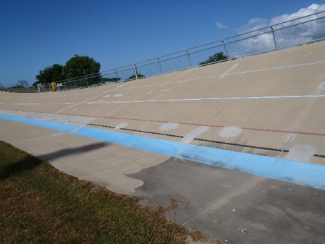 Concrete cleaning Townsville Velodrome