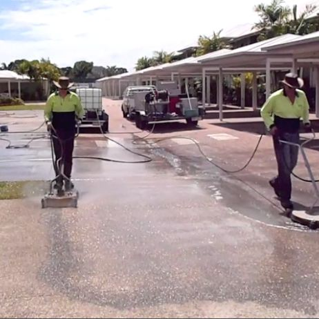 Townsville Concrete Cleaning at work