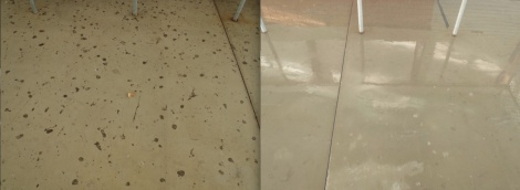 gum removal, before and after
