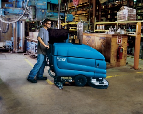 Tennant industrial floor scrubber