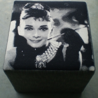 Movie Star Ottomans - Audrey Hepburn, Marilyn Munroe, Grace Kelly & James Dean