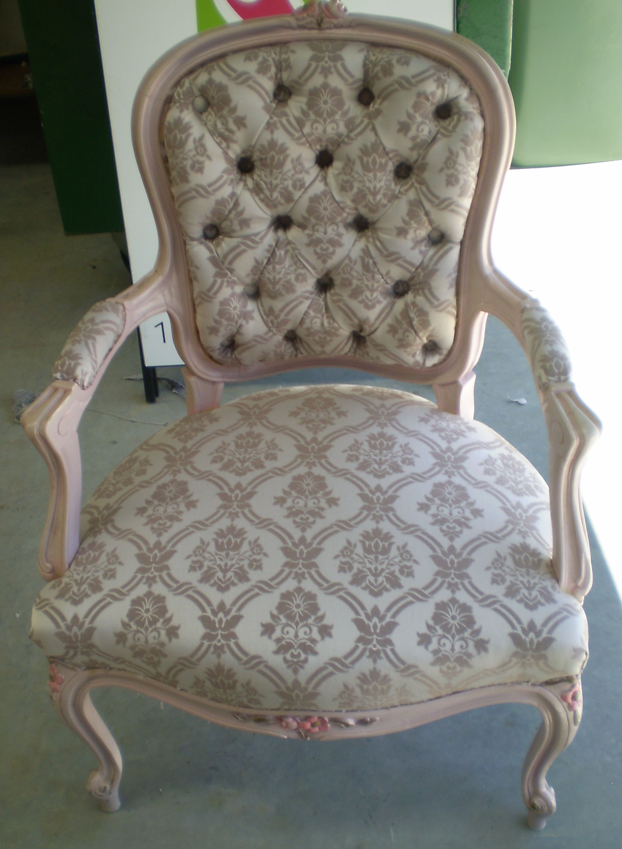 Chair Recovery Diamond Buttons Melbourne Upholstery
