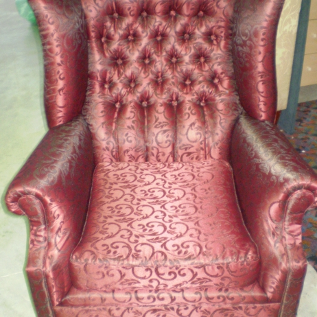 Reupholstery of an old Wing Chair