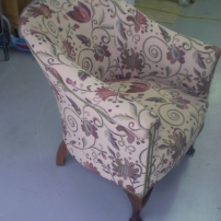 Tub Chair Reupholstery starting at $250, call Jason 0402 188238, Melbourne & surrounding areas