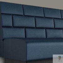 Brick Banquette manufactured in Melbourne & Gippsland by JARO Upholstery