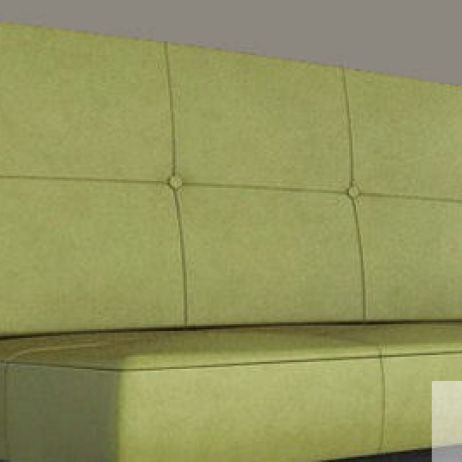 Checked Buttoned Banquette manufactured in Melbourne & Gippsland by JARO Upholstery