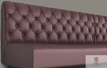 Diamond Buttoned Banquette Manufactured In Melbourne