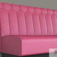 Diamond Flute Banquette manufactured in Melbourne & Gippsland by JARO Upholstery