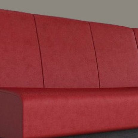 Wide Flute Square Paneled Banquette manufactured in Melbourne & Gippsland by JARO Upholstery