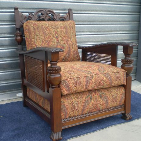 Arm Chair Reupholstery and Modification