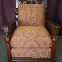 Garfield's Danish Antique Chair Repolished & Reupholstered by JARO Upholstery