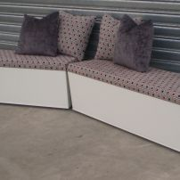 Banquette Storage Seating or Window Seating available in Melbourne, Mornington Peninsula, Pakenham..