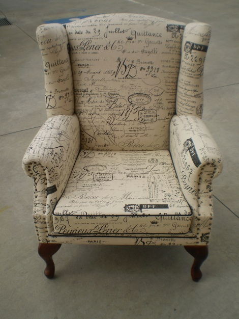 Wing Chairs in Revenge and Paris Fabrics available in Melbourne & Gippsland areas