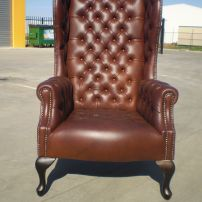 Diamond Buttoned Wing Chair by JARO Upholstery, Melbourne