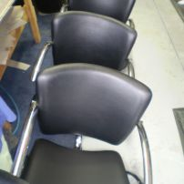 Reupholstered Chairs for a Hairdresser/Salon in Melbourne