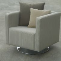 JARO'S CUBE ARM CHAIR ON SWIVEL BASE - MELBOURNE & SYDNEY AREAS