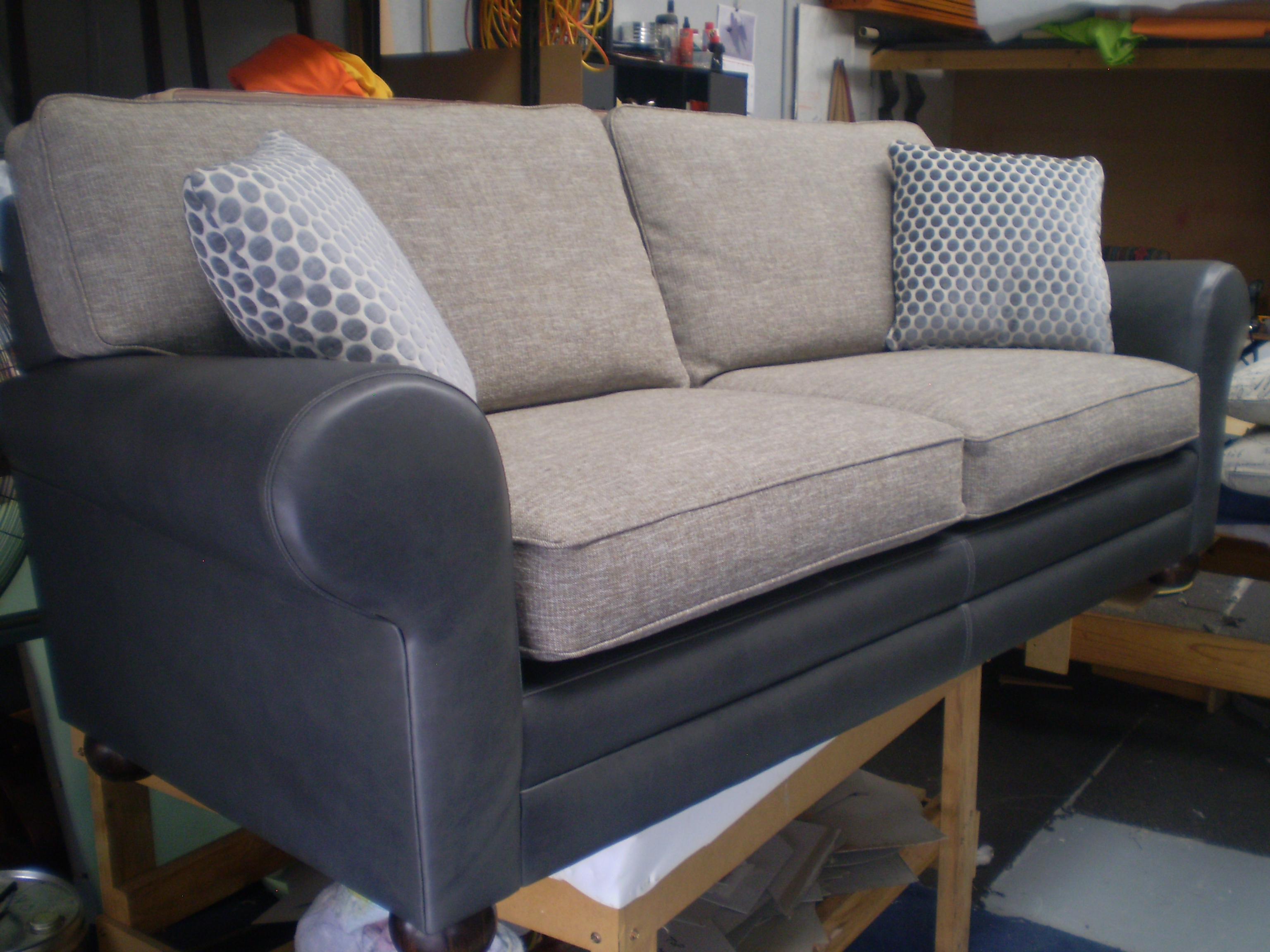 Reupholstered Sofas In Leather And Fabric Melbourne