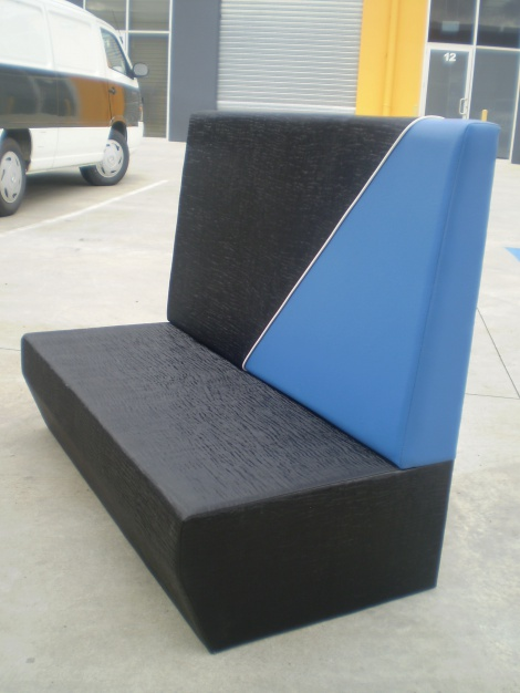Banquette seating is available to match your business or uniform colours - Melbourne & Sydney areas