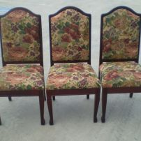Dining Chair Reupholstery - new covers and repairs available at JARO, Melbourne, Gippsland areas