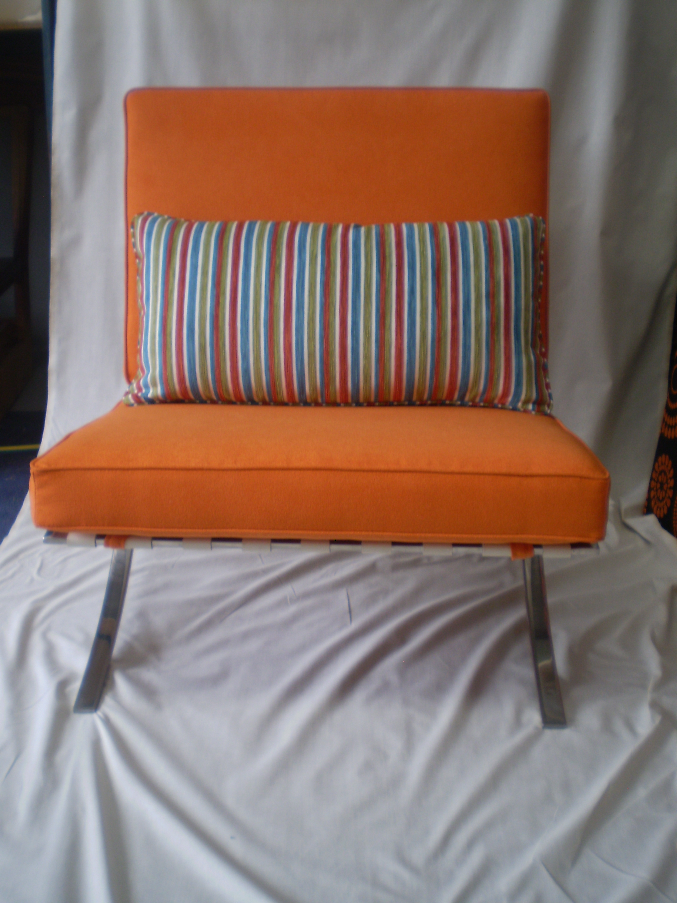 Barcelona Chair Reupholstered By Jaro Upholstery