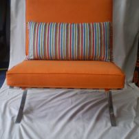 Barcelona Chair reupholstered by JARO Upholstery, Melbourne