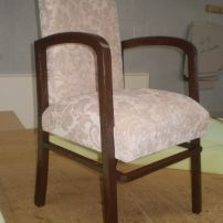 Restored Old Antique Chair, reupholstery by JARO Upholstery servicing Melbourne and Gippsland areas.