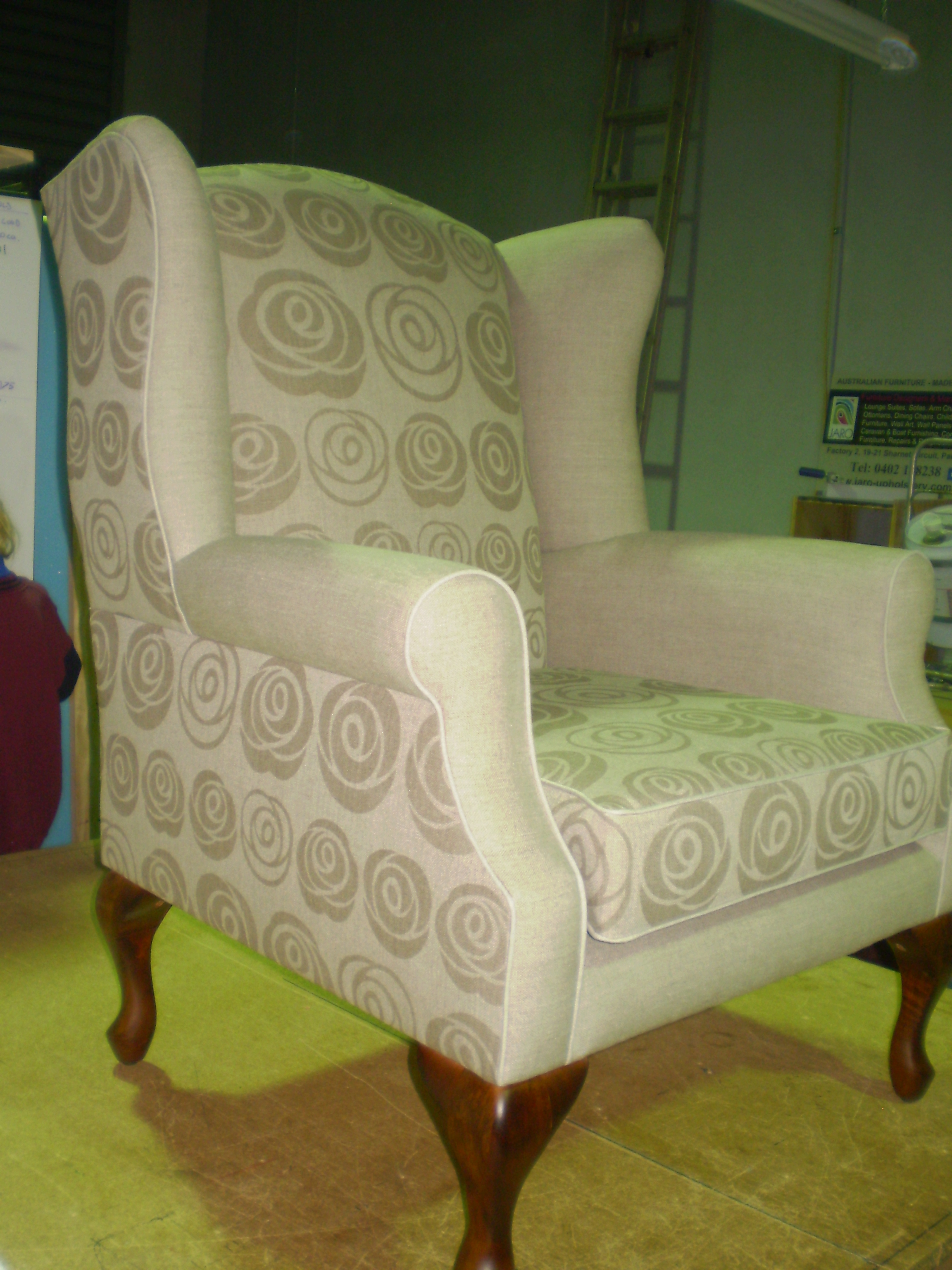 Natural Biodegradable Fibre Linen Quot Paper Roses Quot Wing Chair