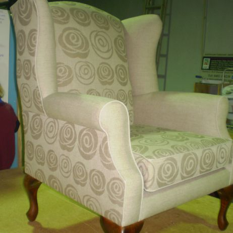 "Natural Biodegradable Fibre Linen ""Paper Roses"" Wing Chair available in Melbourne, Sydney & Brisbane"