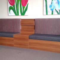 Stylish Magazine, Pamphlet Rack & Book Shelves for your Waiting Room, by JARO Upholstery, Melbourne