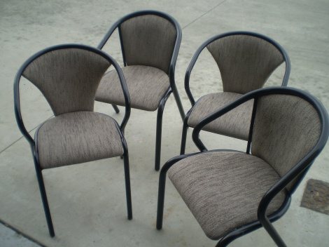 Bistro Chair Reupholstery - Recovered in hardwearing Commercial grade fabrics by JARO, Melbourne