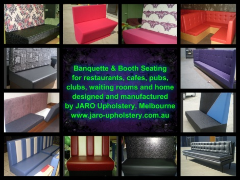 Need help with Restaurant Seating Styles & Layouts? See JARO Upholstery, Pakenham, Melbourne