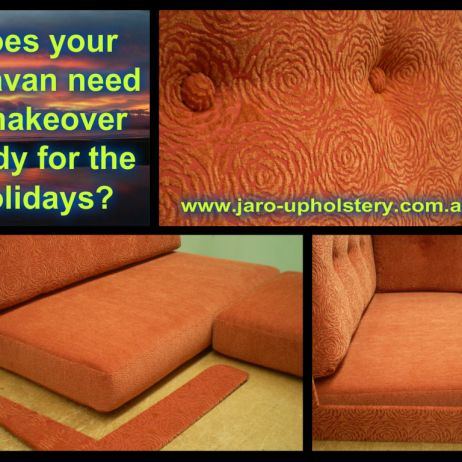 Caravan Makeover! Seat Reupholstery or New Custom Made Seats & Bedboards available in Melbourne area