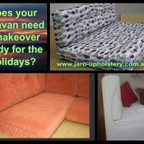 New & Reupholstered Caravan, Campervan & Mobile Van Sofa Seat Covers & Bedboards, Melbourne areas