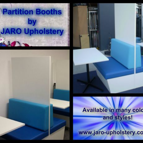 Partition Booth Seating & Tables ideal for your clients privacy for filling out forms etc  Melbourne