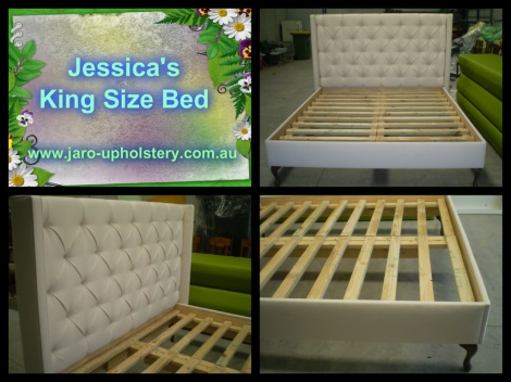 Diamond Buttoned King Size Bed - Australian Made by JARO Upholstery in Melbourne