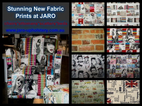 New Themed Fabrics available at JARO Upholstery, Pakenham, Melbourne