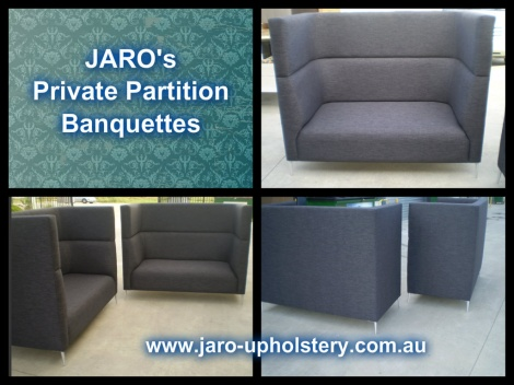 JARO's Privacy Sofa Booths and Banquettes available in Melbourne.