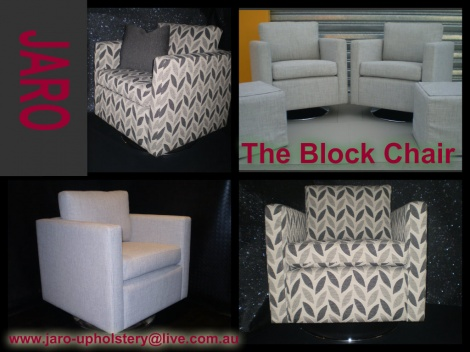 The Block Chair by JARO Upholstery, Pakenham, Melbourne