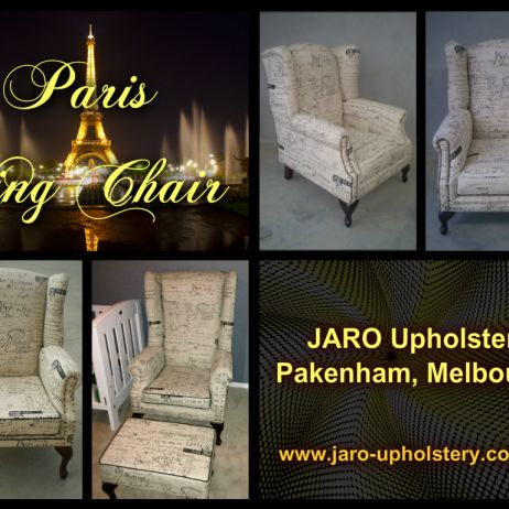 Paris Wing Chairs by JARO Upholstery, Pakenham, Melbourne
