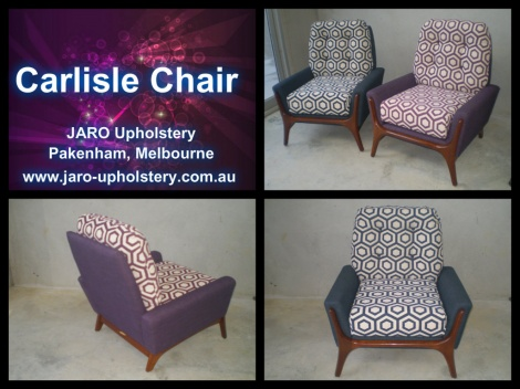 Carlisle Arm Chair by JARO Upholstery, Pakenham, Melbourne