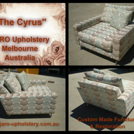 The Cyrus Arm Chair by JARO Upholstery, Melbourne